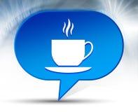 Achtergrond van de het pictogram de blauwe bel van de koffiekop stock illustratie