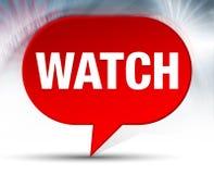 Achtergrond van de horloge de Rode Bel stock illustratie