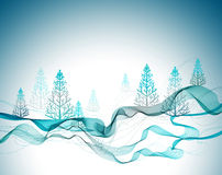 Achtergrond van de Kerstmis de abstracte groet Royalty-vrije Stock Afbeeldingen