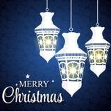 Achtergrond van de Kerstmis de Glanzende Ster Vector Stock Foto's