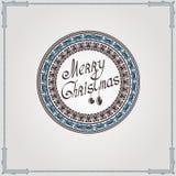 Achtergrond van de Kerstmis de uitstekende cirkel Stock Foto