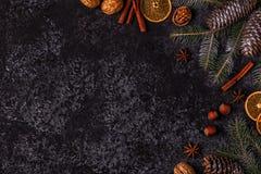 Achtergrond van de Kerstmis de donkere steen Stock Foto