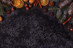 Achtergrond van de Kerstmis de donkere steen Stock Afbeelding