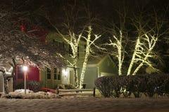 Achtergrond van de Kerstmis de openluchtdecoratie Royalty-vrije Stock Afbeelding
