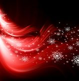Achtergrond van de Kerstmis de rode Boom Royalty-vrije Stock Afbeeldingen