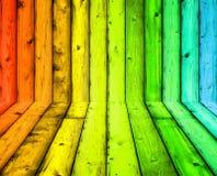 Achtergrond van de kleuren de houten textuur Stock Foto's