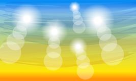 Achtergrond van de kleuren de zonnige zomer stock foto