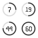Achtergrond van de de kloktijdopnemer van het aftelprocedure de vectormalplaatje digitale voor komst royalty-vrije illustratie