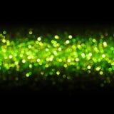 Achtergrond van de lichten de Naadloze Lijn, Abstract Onduidelijk beeld Groene Bokeh, Royalty-vrije Stock Afbeelding