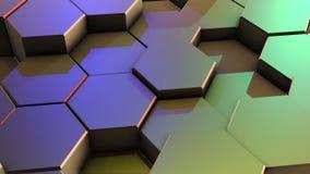Achtergrond van de lijn de Abstracte Kleurrijke Hexagon Honingraat vector illustratie