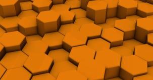 Achtergrond van de lijn de Abstracte Kleurrijke Hexagon Honingraat stock illustratie