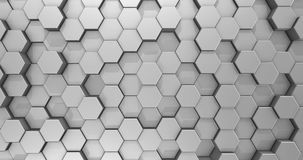 Achtergrond van de lijn de Abstracte Witte Hexagon Honingraat stock illustratie