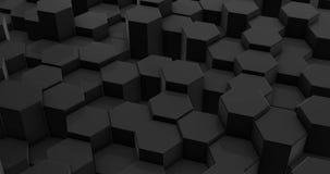 Achtergrond van de lijn de Abstracte Zwarte Hexagon Honingraat royalty-vrije illustratie