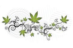 Achtergrond van de marihuana de grafische textuur Royalty-vrije Stock Afbeelding