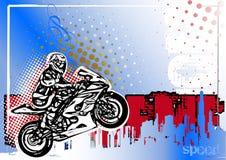 Achtergrond van de Moto GP affiche stock illustratie