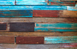 Achtergrond van de Muur van de kleur de Houten Stock Afbeeldingen