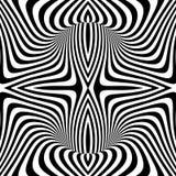 Achtergrond van de ontwerp de zwart-wit geweven illusie Royalty-vrije Stock Fotografie