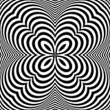 Achtergrond van de ontwerp de zwart-wit geweven illusie Stock Afbeelding