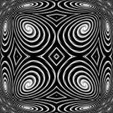 Achtergrond van de ontwerp de zwart-wit spiraalvormige beweging Royalty-vrije Stock Fotografie
