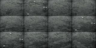 Achtergrond van de oppervlakten van het grungemetaal met klinknagels stock afbeelding