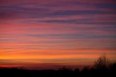 Achtergrond van de pastelkleur de kleurrijke hemel bij zonsondergang Stock Fotografie