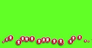 Achtergrond van de de pictogrammenmotie van de animatie de moderne abstracte toekenning stock illustratie