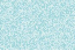 Achtergrond van de pixel de digitale gradiënt Abstract lichtblauw technologiepatroon De gestippelde achtergrond met cirkels, punt Stock Foto's