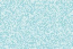 Achtergrond van de pixel de digitale gradiënt Abstract lichtblauw technologiepatroon De gestippelde achtergrond met cirkels, punt Stock Foto