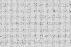 Achtergrond van de pixel de digitale gradiënt Abstract lichtgrijs technologiepatroon De gestippelde achtergrond met cirkels, punt Royalty-vrije Stock Fotografie