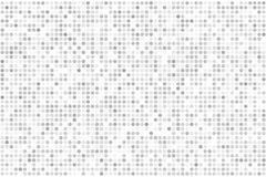 Achtergrond van de pixel de digitale gradiënt Abstract lichtgrijs technologiepatroon De gestippelde achtergrond met cirkels, punt Royalty-vrije Stock Afbeeldingen