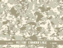 Achtergrond van de pixel de vectorcamouflage Stock Foto's
