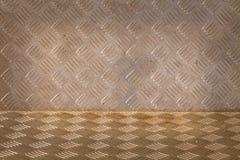 Achtergrond van de plaatpatroon van de metaaldiamant Royalty-vrije Stock Fotografie