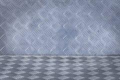 Achtergrond van de plaatpatroon van de metaaldiamant Royalty-vrije Stock Afbeeldingen