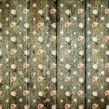 Achtergrond van de plakboek de houten bloem Royalty-vrije Stock Fotografie