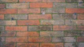 Achtergrond van de rode oranje textuur van het bakstenen muurpatroon Royalty-vrije Stock Afbeeldingen