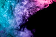 Achtergrond van de rook van vape stock fotografie