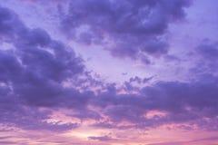 Achtergrond van de Schemering van Cumuluswolken Stock Afbeelding
