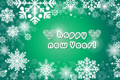 Achtergrond van de sneeuwvlok de groene kleur - eps10-illustratie Stock Fotografie
