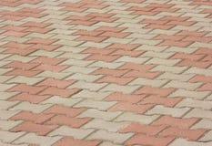 Achtergrond van de de steenvloer van de cementbaksteen de vierkante Textuur van Vloer royalty-vrije stock foto