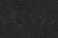 Achtergrond van de de Stoffenkleur van de linnen de zwart-wit textuur, het monster van de vlasoppervlakte Stock Afbeeldingen