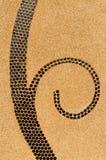 Achtergrond van de textuur van de zandwas op de muur Stock Afbeeldingen