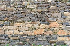 Achtergrond van de textuurfoto van de steenmuur royalty-vrije stock afbeelding