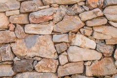Achtergrond van de textuurfoto van de steenmuur Griekse oude muurtextuur stock foto's