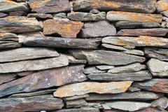 Achtergrond van de textuurfoto van de steenmuur Stock Fotografie
