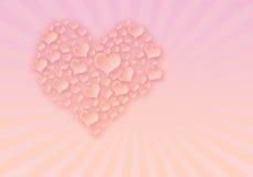 Achtergrond van de vakantieSt Dag van Valentijnskaarten Vector Illustratie