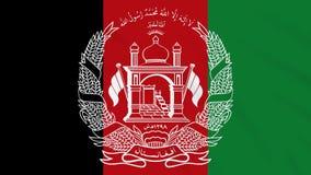 Achtergrond van de de vlag de golvende doek van Afghanistan, lijn stock illustratie