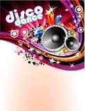 Achtergrond van de Vlieger van de disco de Kleurrijke stock illustratie