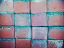 Achtergrond van de de vloermuur van de cement de oude rode en witte kleur Royalty-vrije Stock Foto