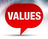 Achtergrond van de waarden de Rode Bel vector illustratie