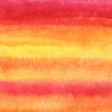 Achtergrond van de waterverf de gestreepte gradiënt - sinaasappel, geel roze, royalty-vrije illustratie
